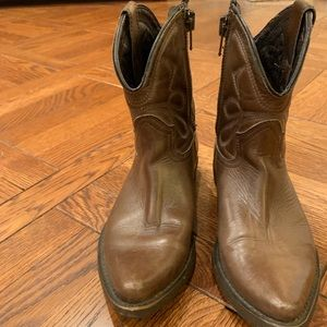 Shoes - Leather Cowboy Ankle Boots